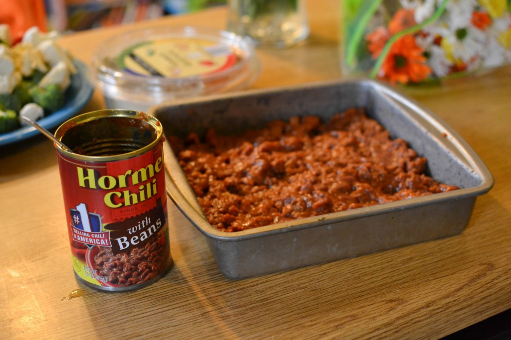 moon dip with Hormel chili